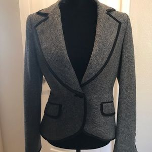 MNG Wool Fitted Blazer - Size 6